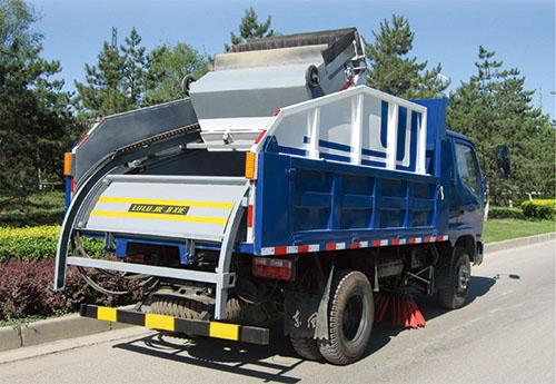 llj5041tsl道路清扫车是以标准轻型货车(自卸式)作为运载